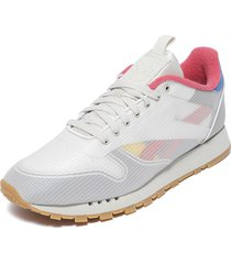 zapatilla cl leather nu multicolor reebok