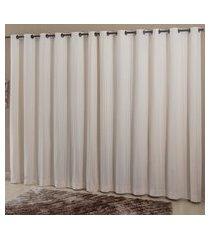 cortina dupla casa d oro 300x250cm com ilhoses sultan branca