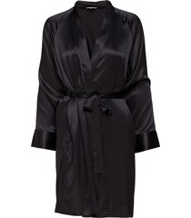 kimono morgonrock svart lady avenue