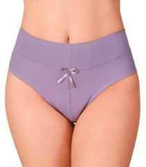 calcinha vip lingerie cintura alta algodão lilas
