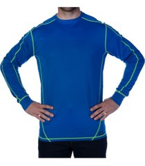 smith's workwear men's contrast long sleeve performing crew t-shirt