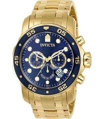 reloj invicta 0073 oro acero inoxidable