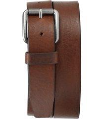 men's trask cash leather belt, size 38 - saddle