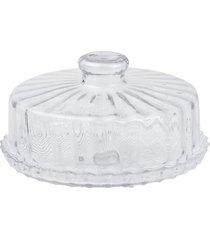 boleira de vidro com tampa - prato para bolo com tampa estilo veneto - kanui