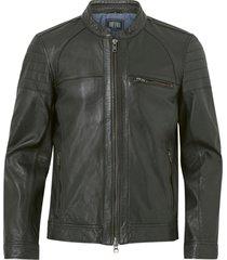 skinnjacka costner zipped leather jacket