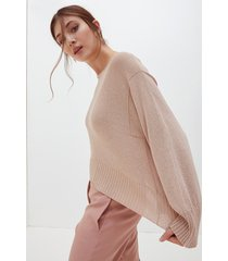 motivi maglia boxy lurex donna rosa