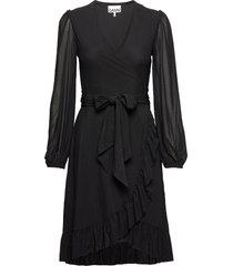 dot mesh jurk knielengte zwart ganni