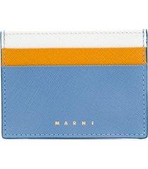 marni colourblock card holder - blue