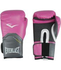 luvas de boxe everlast pró style training - 12 oz - feminina - rosa