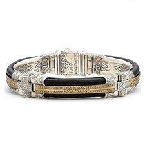 men's konstantino byzantium etched sterling silver bracelet