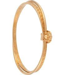 versace greca medusa head bracelet - gold