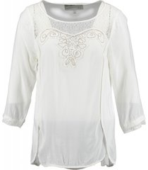 garcia blouse shirt spring white 3/4 mouw