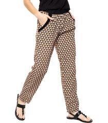 pantalón marrón donadonna