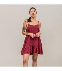 vestido amplio corto tiras taruh