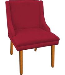 cadeira sala de jantar liz suede vermelho - d'rossi