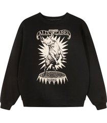 alix the label oversized bull sweater