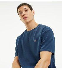 t-shirt manga corta azul tommy jeans
