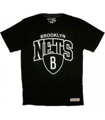 maglietta t-shirt nba brooklyn nets team arch