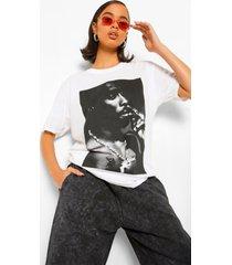 gelicenseerd tupac t-shirt, white