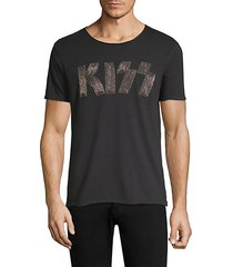 embroidered kiss logo graphic tee