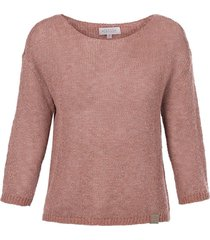 luchtig gebreide trui roze