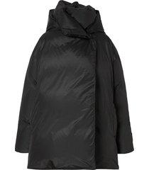 burberry oversized padded coat - black
