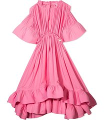 lanvin dress with ruches