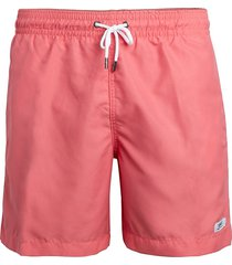 trunks men's solid swim shorts - coral - size l