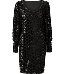 sammetsklänning onlcourage l/s glitter dress