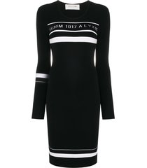 1017 alyx 9sm fitted logo dress - black
