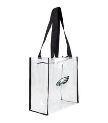 little earth philadelphia eagles clear square zip tote