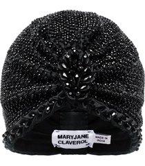 maryjane claverol guayana beaded turban - black
