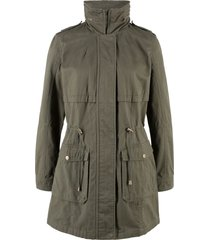 parka di cotone foderato in jersey (verde) - bpc bonprix collection
