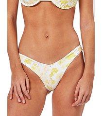 daisy-print cheeky bikini bottom