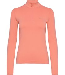 comet seamless half zip w sweat-shirt tröja rosa salomon