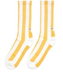'sunbeam' stripe rib cuff tennis socks