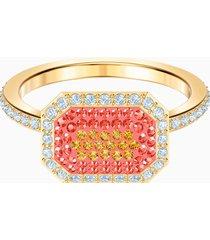 anello no regrets, multicolore, placcatura oro