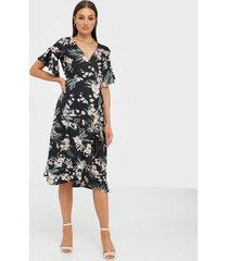ax paris flower midi dress loose fit dresses