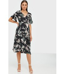 ax paris flower midi dress loose fit dresses