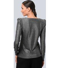 shirt alba moda zilverkleur::zwart
