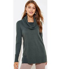 loft luxe knit cowl neck tunic sweater