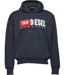 s-division sweat-shirt sweat-shirts & hoodies hoodies blauw diesel men