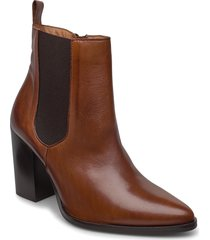 biajudia leather boot shoes boots ankle boots ankle boot - heel brun bianco