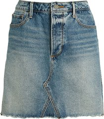 driftwood women's deconstructed a-line denim skirt - light wash - size 27 (4)