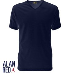 alan red t-shirt vermont, v-hals, navy