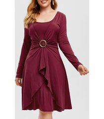plus size o ring overlap dress