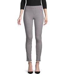 houndstooth slim-fit pants