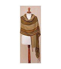 alpaca blend shawl, 'exotic celebration' (peru)