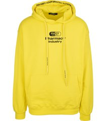 pharmacy industry yellow man hoodie with logo
