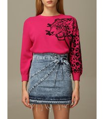 red valentino sweater red valentino cotton blend pullover with tiger